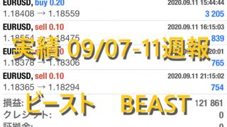 ビースト BEAST FX自動売買 実績公開 09/07-11日版 日利5%!!月利100%!?