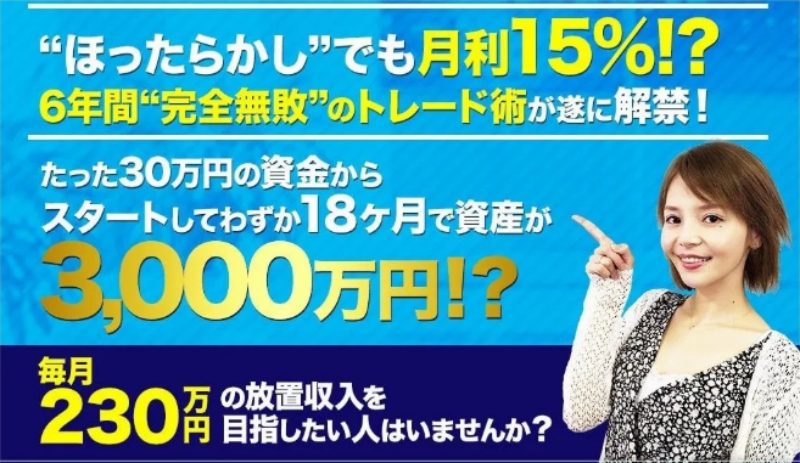 新世代型FXトレード 日利0.5%のFXトレードWEB講座(佐々木千恵)